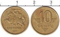Изображение Дешевые монеты Литва 10 сенти 1997 Латунь XF