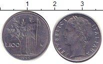 Изображение Барахолка Италия 100 лир 1990 Сталь XF