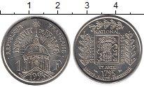 Изображение Мелочь Франция 1 франк 1995 Медно-никель UNC-