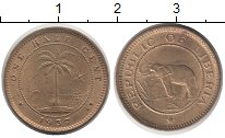 Изображение Монеты Либерия 1/2 цента 1937 Латунь XF