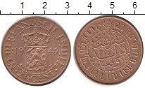 Изображение Мелочь Нидерландская Индия 2 1/2 цента 1945 Медь XF
