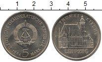 Монета ГДР 5 марок 1984 Томас кирха Медно-никель XF