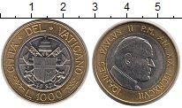 Изображение Монеты Ватикан 1000 лир 1997 Биметалл UNC