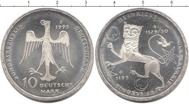 Картинка Монеты ФРГ 10 марок Серебро 1995