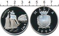 Изображение Монеты Мальта 5 фунтов 1994 Серебро Proof