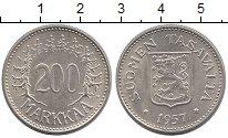 Изображение Монеты Финляндия 200 марок 1957 Серебро UNC