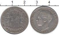 Изображение Монеты Испания 1 песета 1902 Серебро XF
