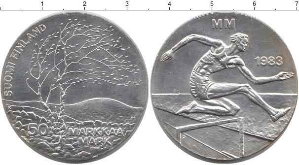 Картинка Монеты Финляндия 50 марок Серебро 1983