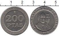 Изображение Монеты Испания 200 песет 1998 Медно-никель UNC-