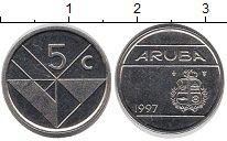 Изображение Монеты Нидерланды Аруба 5 центов 1997 Медно-никель UNC-