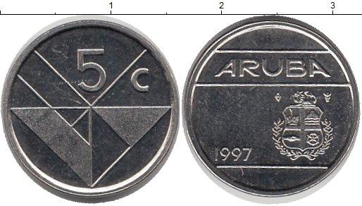 Картинка Монеты Аруба 5 центов Медно-никель 1997