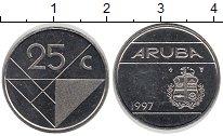 Изображение Монеты Аруба 25 центов 1997 Медно-никель UNC-