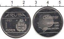 Изображение Монеты Аруба 1 флорин 1997 Медно-никель UNC-