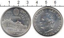 Изображение Монеты Испания 2000 песет 1995 Серебро UNC-