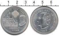 Изображение Монеты Испания 2000 песет 1998 Серебро UNC- 400 лет со дня смерт