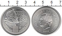 Изображение Монеты Испания 2000 песет 2000 Серебро UNC-
