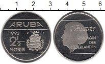 Изображение Монеты Аруба 2 1/2 флорина 1993 Медно-никель UNC-