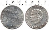 Изображение Монеты Швеция 200 крон 1980 Серебро UNC-