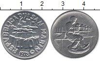 Изображение Монеты Сан-Марино 10 лир 1978 Алюминий UNC-