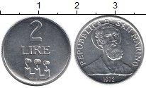 Изображение Монеты Сан-Марино 2 лиры 1972 Алюминий UNC-