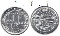 Изображение Монеты Сан-Марино 2 лиры 1977 Алюминий UNC-