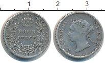 Изображение Монеты Гайана 4 пенса 1891 Серебро XF Протекторат  Британи