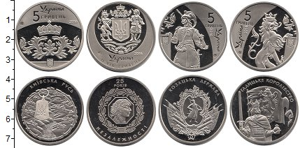 Изображение Наборы монет Україна 5 гривен 2016 Медно-никель Proof
