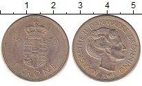 Изображение Барахолка Дания 1 крона 1979 Медно-никель XF