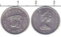 Изображение Барахолка Сейшелы 1 цент 1972 Алюминий XF