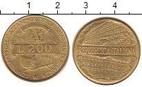 Изображение Дешевые монеты Италия 200 лир 1996 Латунь XF