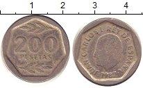 Изображение Дешевые монеты Испания 200 песет 1987 Медно-никель XF