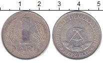 Изображение Барахолка ГДР 1 марка 1957 Алюминий XF