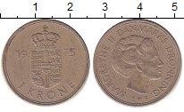 Изображение Барахолка Дания 1 крона 1975 Медно-никель XF