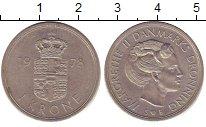Изображение Барахолка Дания 1 крона 1978 Медно-никель XF