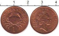 Изображение Дешевые монеты Гернси 1 пенни 1989 Латунь XF