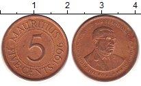 Изображение Барахолка Маврикий 5 центов 1996 Латунь XF
