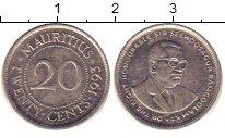 Изображение Дешевые монеты Маврикий 20 центов 1993 Медно-никель XF