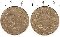 Изображение Дешевые монеты Филиппины 5 писо 1993 Латунь XF