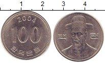 Изображение Барахолка Корея 100 вон 2004 Медно-никель XF