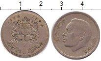 Изображение Дешевые монеты Марокко 1 дирхам 1974 Медно-никель XF-