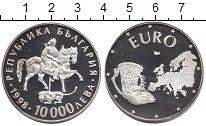 Изображение Монеты Болгария 10000 лев 1998 Серебро Proof Объединение  Европы.