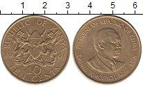 Изображение Монеты Кения 10 центов 1991 Латунь XF Президент  Мои.