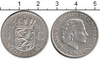 Изображение Монеты Нидерланды 1 гульден 1956 Серебро XF