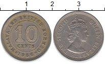 Изображение Монеты Великобритания Малайя 10 центов 1956 Медно-никель XF