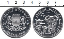 Изображение Монеты Сомали 100 шиллингов 2015 Серебро UNC