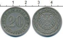 Изображение Монеты Германия 20 пфеннигов 1890 Медно-никель XF