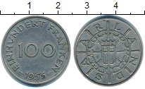 Изображение Монеты Саар 100 франков 1955 Медно-никель XF