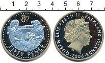 Изображение Монеты Фолклендские острова 50 пенсов 2006 Серебро Proof