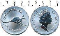 Изображение Монеты Австралия 1 доллар 1994 Серебро Proof Елизавета II.  Кенгу