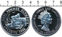 Изображение Монеты Великобритания Теркc и Кайкос 20 крон 1995 Серебро Proof-